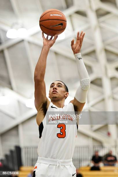 Devin Cannady of the Princeton Tigers shoots a free throw against the Lehigh Mountain Hawks during the first half at L Stockwell Jadwin Gymnasium on...