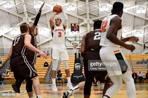 Devin Cannady of the Princeton Tigers shoots the ball against the Lehigh Mountain Hawks during the first half at L Stockwell Jadwin Gymnasium on...