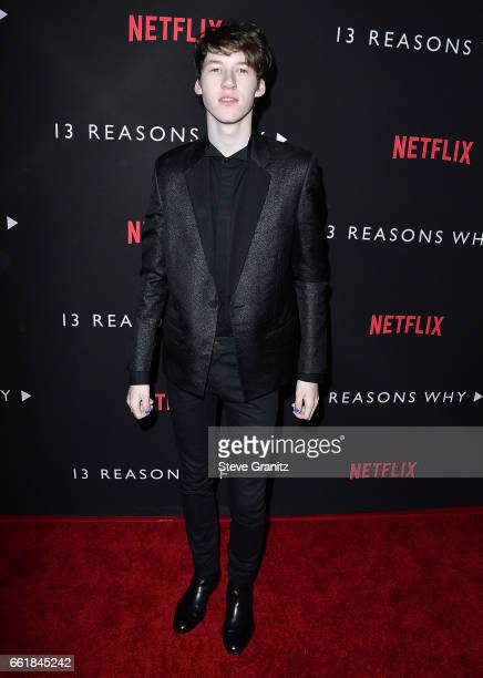 Devin Druid arrives at the Premiere Of Netflix's '13 Reasons Why' at Paramount Pictures on March 30 2017 in Los Angeles California