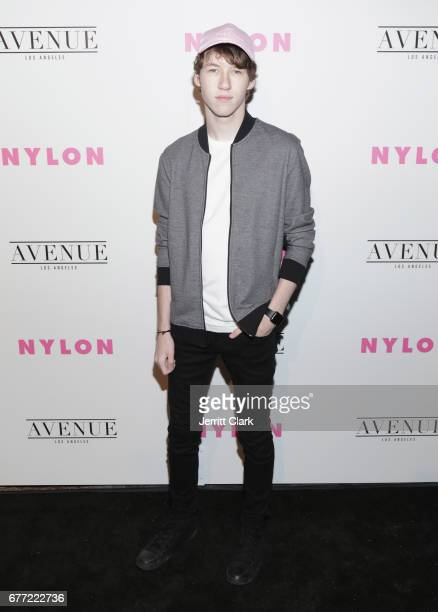 Devin Druid attends NYLON's Annual Young Hollywood May Issue Event With Cover Star Rowan Blanchard at Avenue on May 2 2017 in Los Angeles California