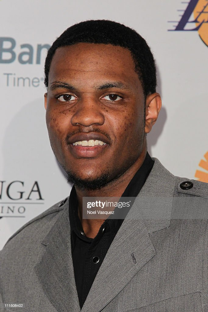 Devin Ebanks attends Lakers' Casino Night benefiting the Los Angeles Lakers Youth Foundation at the Staples Center on April 3, 2011 in Los Angeles, California.
