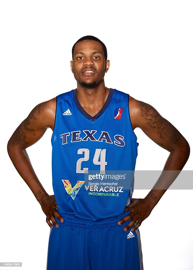 <a gi-track='captionPersonalityLinkClicked' href=/galleries/search?phrase=Devin+Ebanks&family=editorial&specificpeople=5293899 ng-click='$event.stopPropagation()'>Devin Ebanks</a> #24 of Texas Legends poses for a photo during media day on November 19, 2013 at USA Fieldhouse Arena.