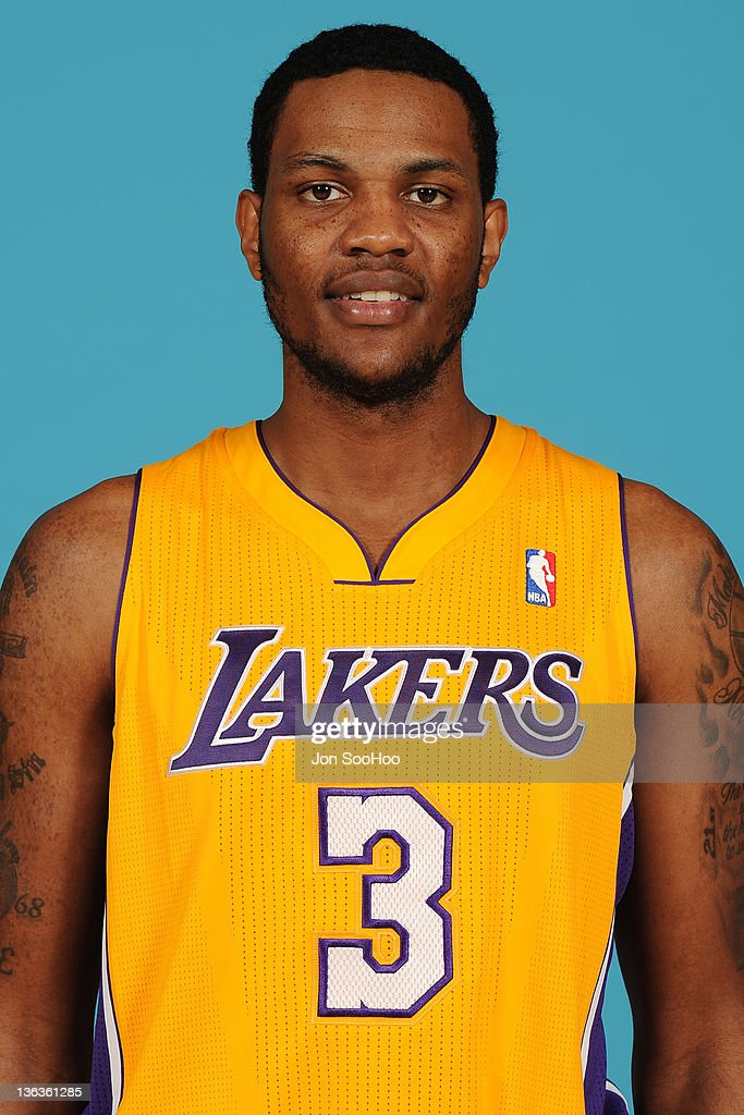 <a gi-track='captionPersonalityLinkClicked' href=/galleries/search?phrase=Devin+Ebanks&family=editorial&specificpeople=5293899 ng-click='$event.stopPropagation()'>Devin Ebanks</a> #3 of the Los Angeles Lakers poses for a photo during Media Day at Toyota Sports Center on December 11, 2011 in El Segundo, California.