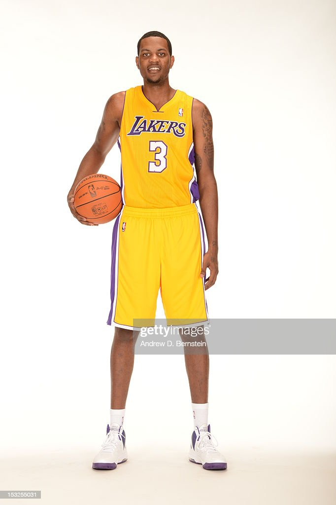 <a gi-track='captionPersonalityLinkClicked' href=/galleries/search?phrase=Devin+Ebanks&family=editorial&specificpeople=5293899 ng-click='$event.stopPropagation()'>Devin Ebanks</a> #3 of the Los Angeles Lakers poses for a photo during Media Day at Toyota Sports Center on October 1, 2012 in El Segundo, California.