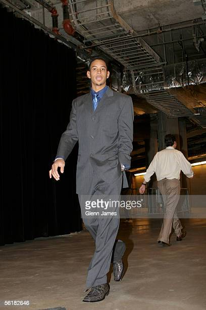 Devin Harris of the Dallas Mavericks adheres to the NBA imposed dress code while arriving to their game against the Denver Nuggets on November 15...