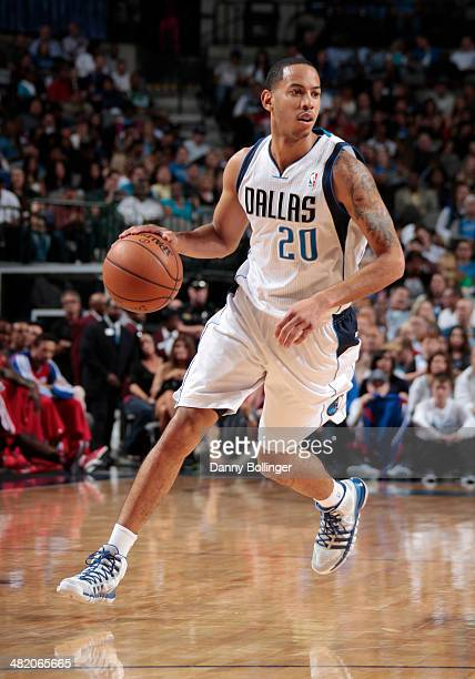 Devin Harris of the Dallas Mavericks dribbles the ball during the game against the Los Angeles Clippers on March 27 2014 at the American Airlines...