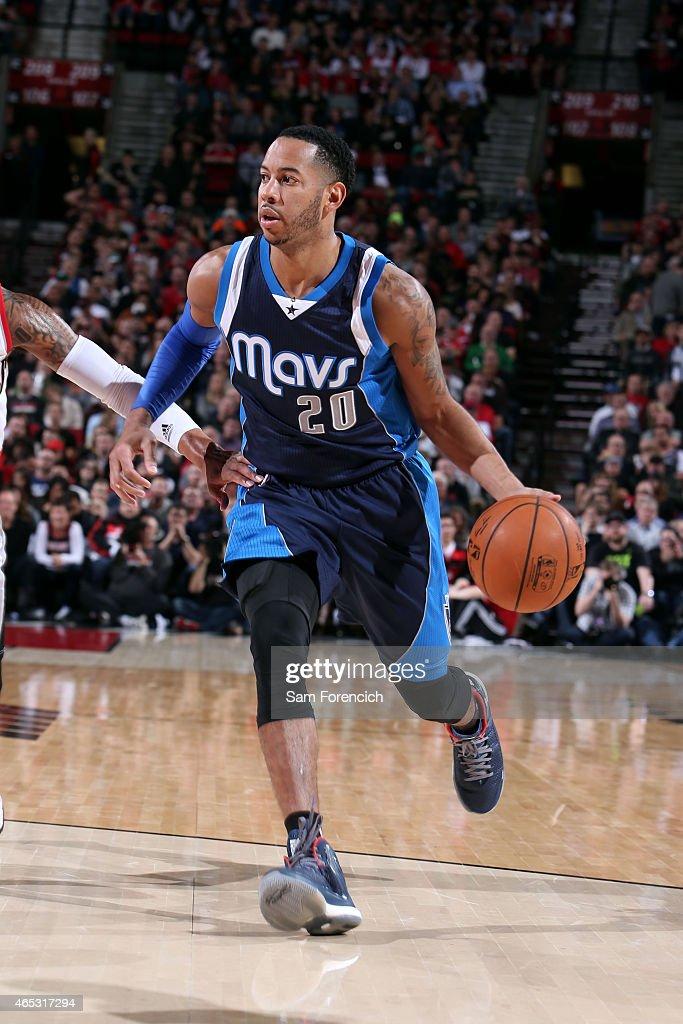 Devin Harris of the Dallas Mavericks drives against the Portland Trail Blazers on March 5 2015 at the Moda Center in Portland Oregon NOTE TO USER...