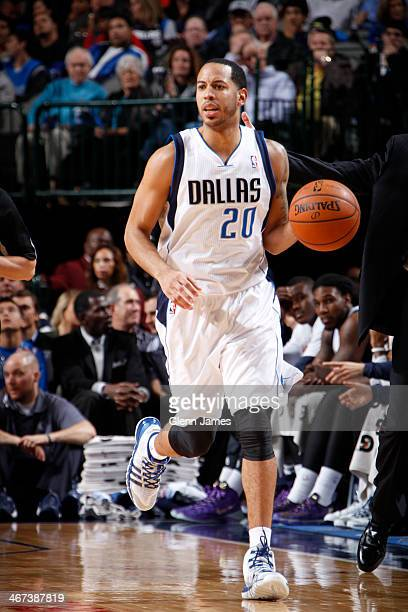 Devin Harris of the Dallas Mavericks handling the ball during a game against the Cleveland Cavaliers on February 3 2014 at the American Airlines...
