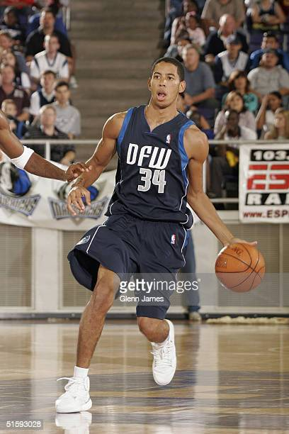 Devin Harris of the Dallas Mavericks looks downcourt during an intrasquad exhibition at the Mavs Fan Jam on October 9 2004 at Texas Christian...