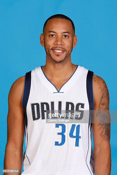 Devin Harris of the Dallas Mavericks poses for a head shot during Media Day on September 28 2015 at the American Airlines Center in Dallas Texas NOTE...