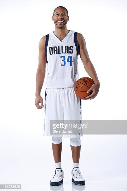 Devin Harris of the Dallas Mavericks poses for a photo during Media Day on October 5 2015 at the American Airlines Center in Dallas Texas NOTE TO...