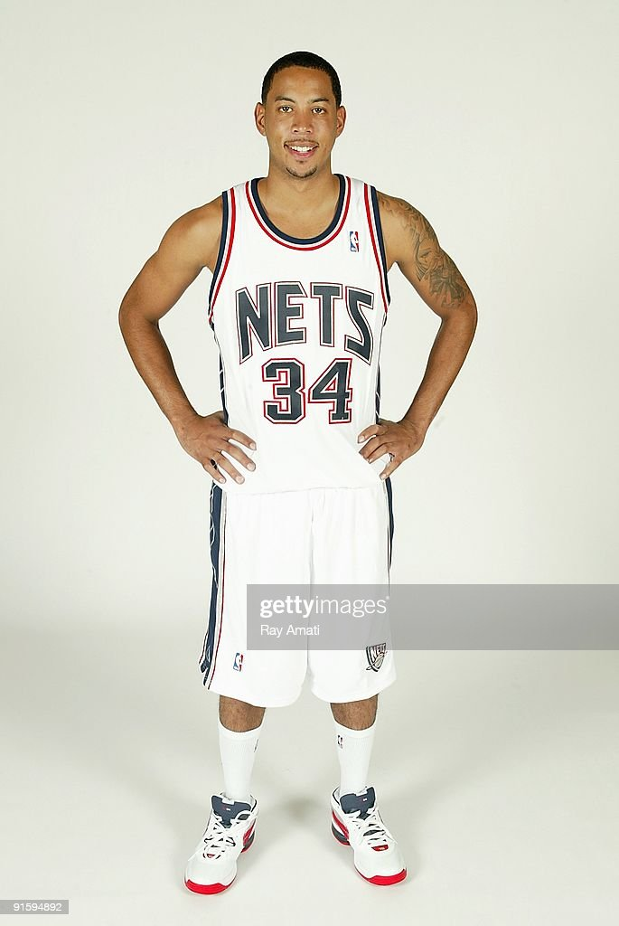 Devin Harris of the New Jersey Nets poses for a portrait during 2009 NBA Media Day on September 28 2009 at the Nets Practice Facility in East...