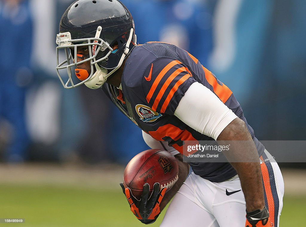 <a gi-track='captionPersonalityLinkClicked' href=/galleries/search?phrase=Devin+Hester&family=editorial&specificpeople=589809 ng-click='$event.stopPropagation()'>Devin Hester</a> #23 of the Chicago Bears fields a kick against the Green Bay Packers at Soldier Field on December 16, 2012 in Chicago, Illinois. The Packers defeated the Bears 21-13.