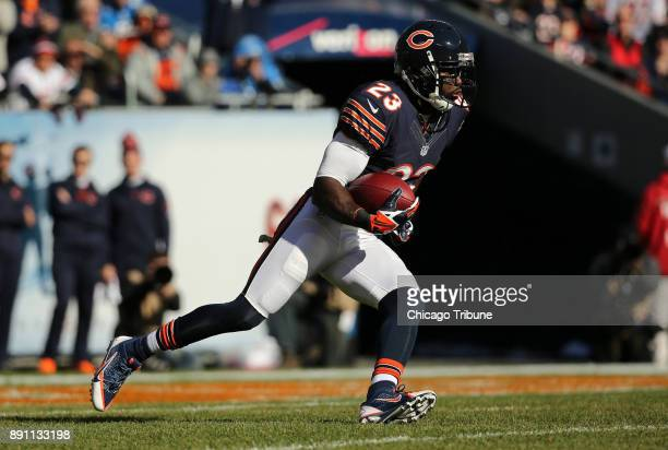 Devin Hester of the Chicago Bears returns a kickoff after the Detroit Lions scored a touchdown in the first quarter at Soldier Field in Chicago...
