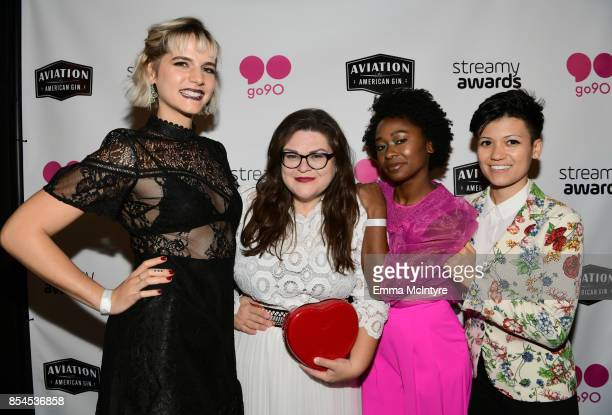 Devin Lytle Kristin Chirico Fredricka Ransome and Jennifer Ruggirello at the 2017 Streamy Awards at The Beverly Hilton Hotel on September 26 2017 in...