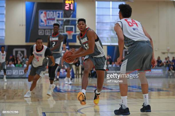 Devin Robinson passes the ball during the NBA Draft Combine Day 2 at the Quest Multisport Center on May 12 2017 in Chicago Illinois NOTE TO USER User...