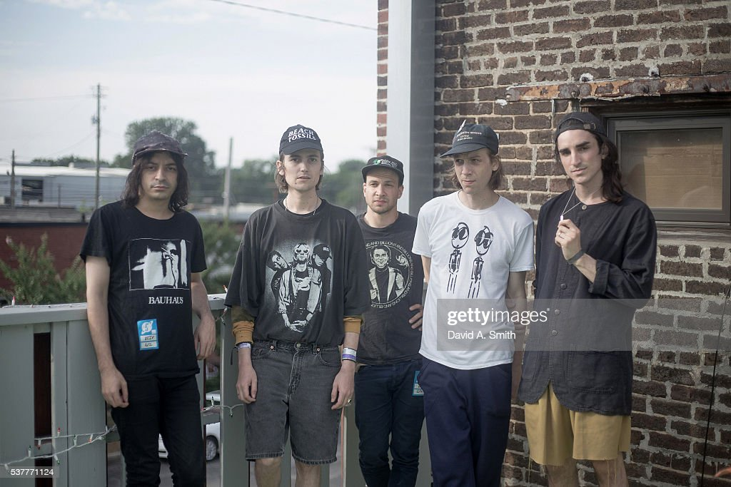 Devin Ruben Perez Zacahary Cole Smith Ben Newman Andrew Bailey and Colin Caulfield of DIIV are photographed before the band's performance at Saturn...