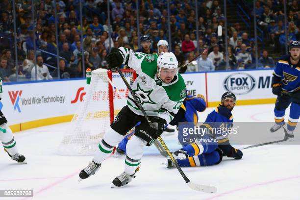 Devin Shore of the Dallas Stars in action against the St Louis Blues at the Scottrade Center on October 7 2017 in St Louis Missouri