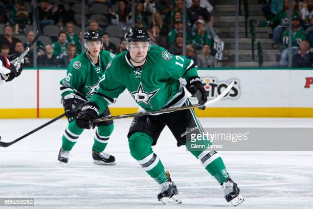 Devin Shore of the Dallas Stars skates against the Arizona Coyotes at the American Airlines Center on April 4 2017 in Dallas Texas