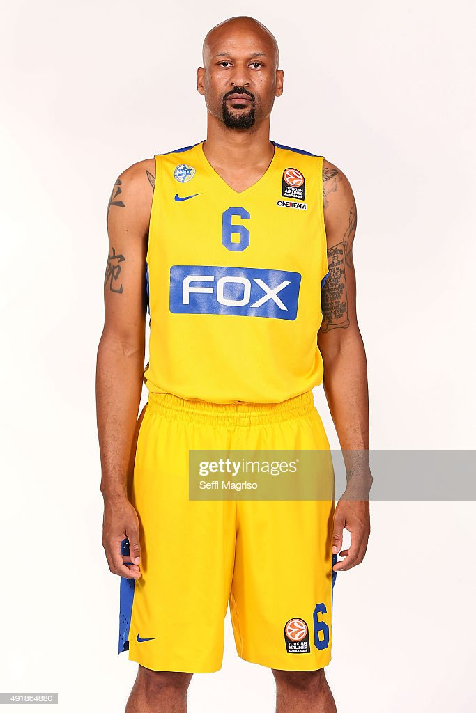 Devin Smith, #6 of Maccabi Fox Tel Aviv during the 2015/2016 Turkish Airlines Euroleague Basketball Media Day at Menora Mivtachim Arena on October 8, 2015 in Tel Aviv, Israel.
