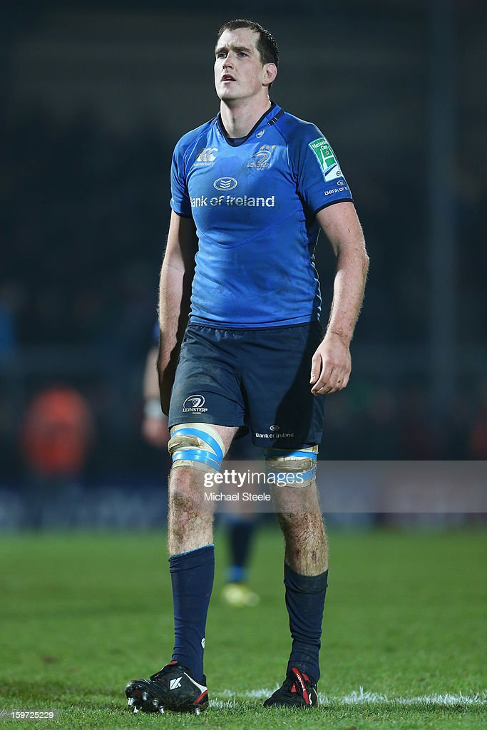 <a gi-track='captionPersonalityLinkClicked' href=/galleries/search?phrase=Devin+Toner&family=editorial&specificpeople=6718607 ng-click='$event.stopPropagation()'>Devin Toner</a> of Leinster looks dejected after the final whistle despite his sides 29-20 victory but now rely on other results to progress in the competition during the Heineken Cup Pool Five match between Exeter Chiefs and Leinster at Sandy Park on January 19, 2013 in Exeter, England.