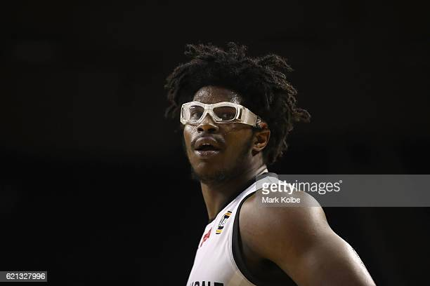 Devin Williams of United watches on during the round five NBL match between the Illawarra Hawks and Melbourne United at Wollongong Entertainment...