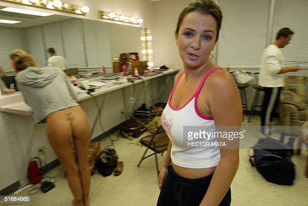 Devinn Lane an Adult Entertainment actress producer and director rushes to the plateau during the making of the Wicked Pictures Production 'The...