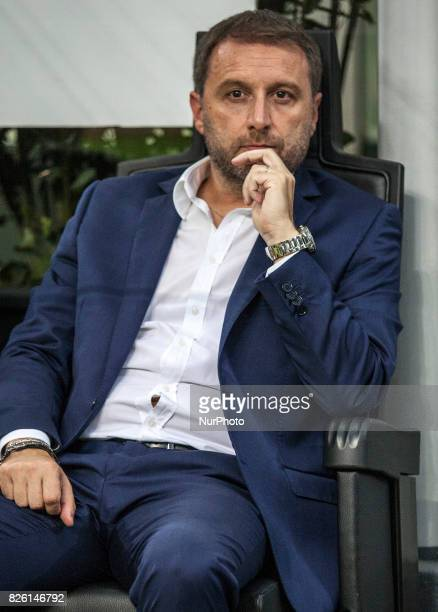 Devis Mangia during the preliminaries of Europa League 2017/2018 match between Milan v Craiova in Milan on august 3 2017