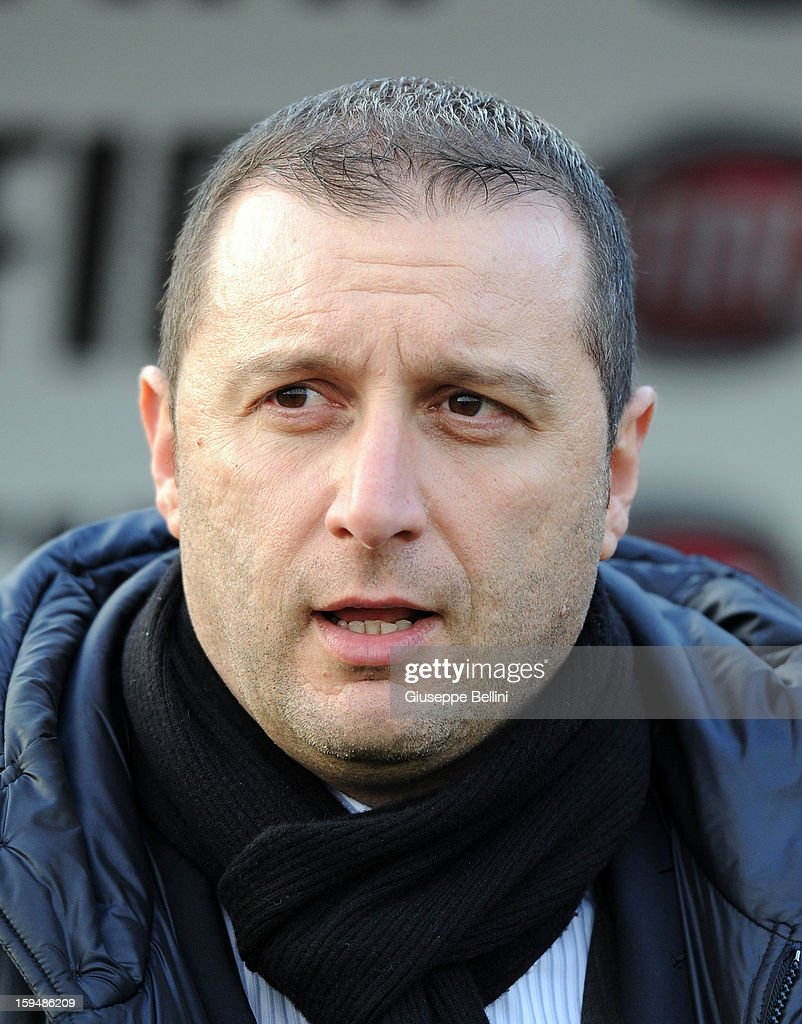 Devis Mangia head coach of Italy U21 during the friendly match between Italy U21 and Rappresentativa Serie B at Stadio Libero Liberati on December 18, 2012 in Terni, Italy.