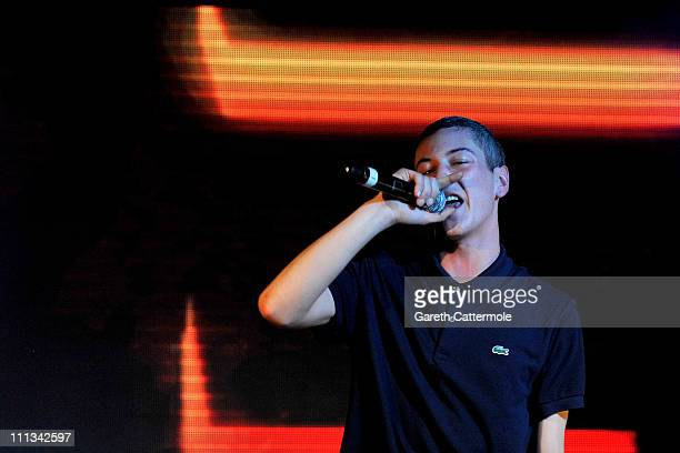 Devlin performs on stage at an exclusive gig for Music Unlimted Live at Proud Camden on March 31 2011 in London England Music Unlimited is a new...