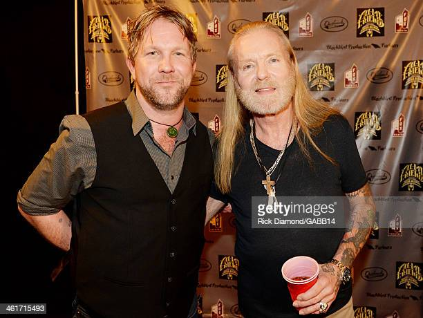 Devon Allman and Gregg Allman attend All My Friends Celebrating the Songs Voice of Gregg Allman at The Fox Theatre on January 10 2014 in Atlanta...