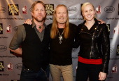 Devon Allman Gregg Allman and Delilah Island Allman attend All My Friends Celebrating the Songs Voice of Gregg Allman at The Fox Theatre on January...