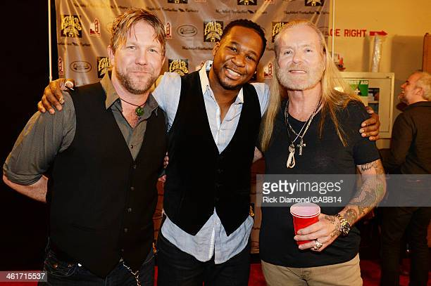 Devon Allman Robert Randolph and Gregg Allman attend All My Friends Celebrating the Songs Voice of Gregg Allman at The Fox Theatre on January 10 2014...