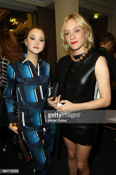 Devon Aoki and Chloe Sevigny attend the Sidaction Gala Dinner at Pavillon d'Armenonville on January 23 2014 in Paris France