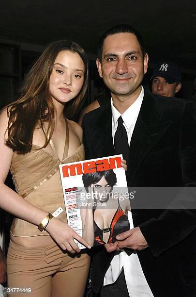 Devon Aoki and Kashy Khaledi publisher of Mean Magzine