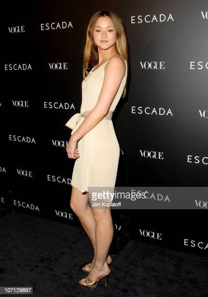 Devon Aoki during Escada Grand Opening Of The Beverly Hills Flagship Boutique Arrivals at Escada Beverly Hills in Beverly Hills California United...
