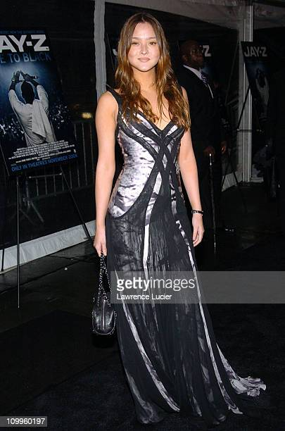 Devon Aoki during JayZ Fade To Black Premiere Arrivals at Ziegfeld Theater in New York City New York United States