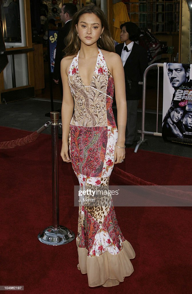 <a gi-track='captionPersonalityLinkClicked' href=/galleries/search?phrase=Devon+Aoki&family=editorial&specificpeople=217563 ng-click='$event.stopPropagation()'>Devon Aoki</a> during The World Premiere of '2 Fast 2 Furious' at Universal Amphitheatre in Universal City, California, United States.
