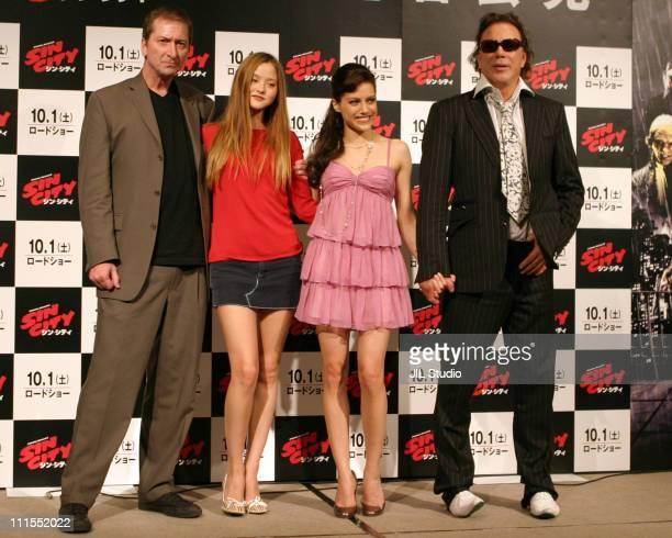Devon Aoki Frank Miller director Brittany Murphy and Mickey Rourke