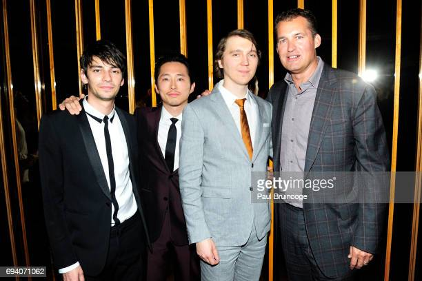 Devon Bostick Steven Yeun Paul Dano and Scott Stuber attend Netflix hosts the after party for 'Okja' at AMC Lincoln Square Theater on June 8 2017 in...