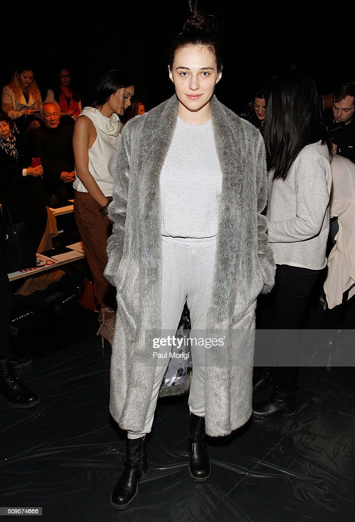 Devon Carlson attends the Nicholas K Fall 2016 Fashion Show during New York Fashion Week: The Shows at The Dock, Skylight at Moynihan Station on February 11, 2016 in New York City.