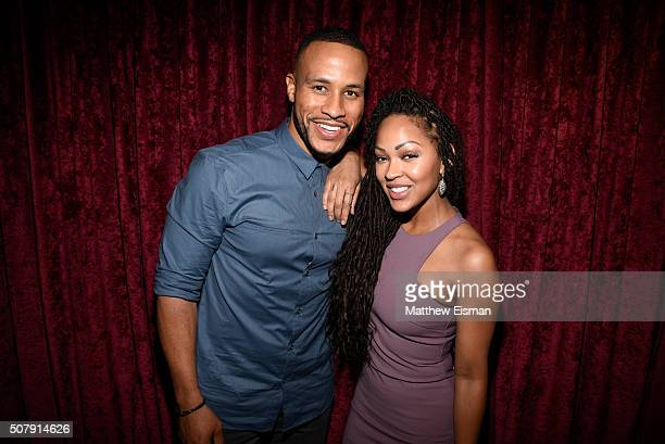 Devon Franklin and Meagan Good visit 'Sway in the Morning' with Sway Calloway on Eminem's Shade 45 at the SiriusXM Studios on February 1 2016 in New...
