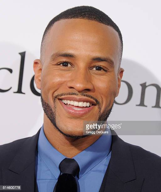 DeVon Franklin arrives at the premiere of Columbia Pictures' 'Miracles From Heaven' at ArcLight Hollywood on March 9 2016 in Hollywood California