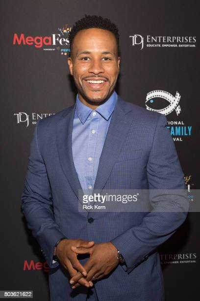 DeVon Franklin poses before the MegaFest Leading Men In Hollywood Panel at the Omni Hotel on June 29 2017 in Dallas Texas