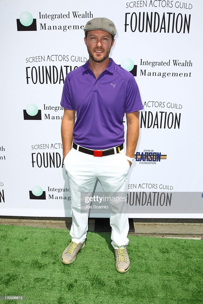 Devon Gummersall arrives to the Screen Actors Guild Foundation's 4th annual Los Angeles golf classic at Lakeside Golf Club on June 10, 2013 in Burbank, California.