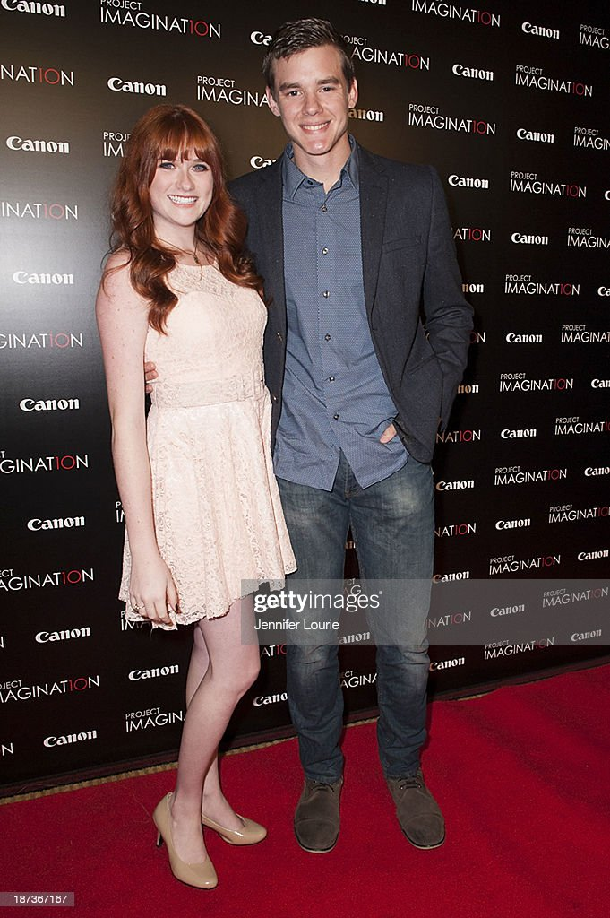 Devon Moran and Jared Nelson attend the Los Angeles screening for Canon's 'Project Imaginat10n' film festival at Pacific Theatre at The Grove on November 7, 2013 in Los Angeles, California.