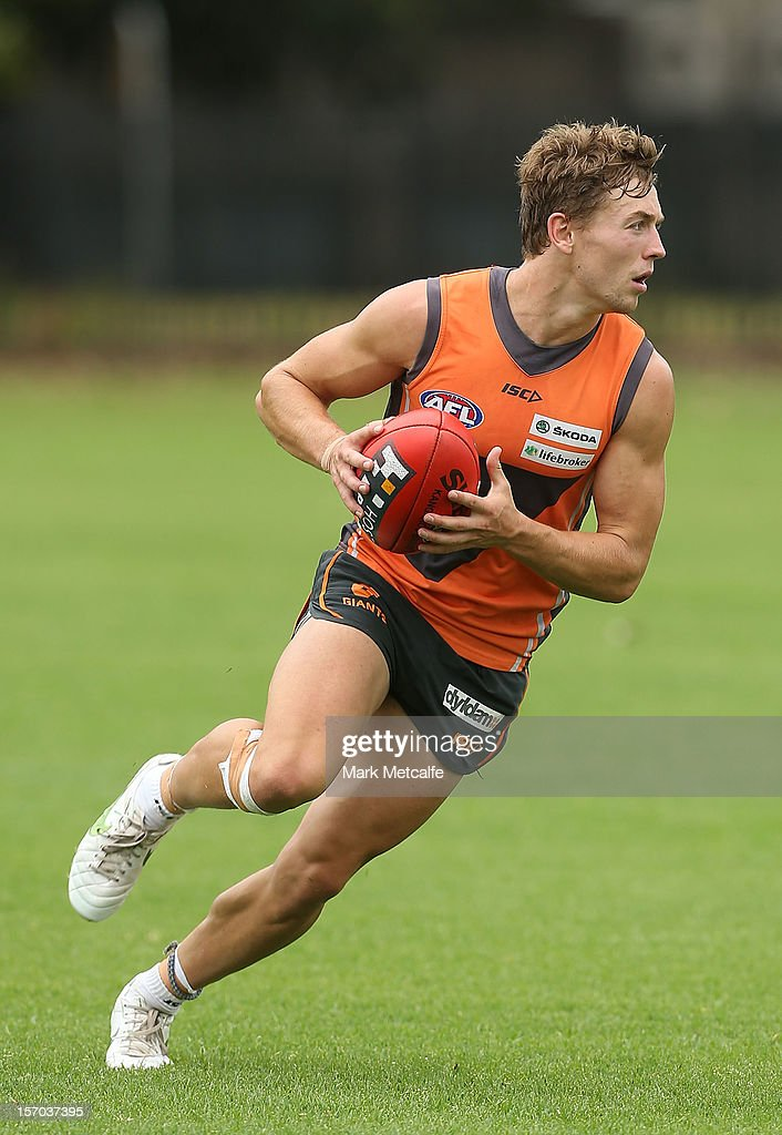 Devon Smith in action during a Greater Western Sydney Giants AFL pre-season training session at Lakeside Oval on November 28, 2012 in Sydney, Australia.