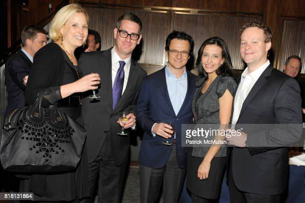 Devon Spurgeon David Gillen Russell Horowitz Dina Powell and Chris Licht attend THE NEW YORK TIMES Celebrates the Expansion of DEALBOOK at The Four...