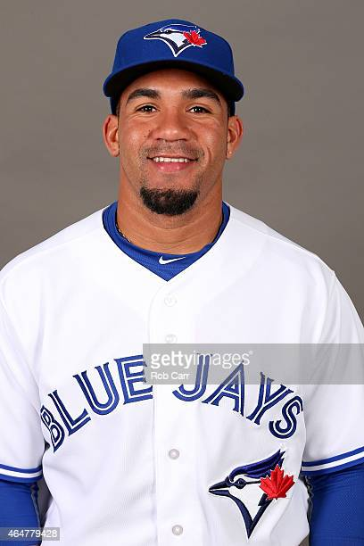 Devon Travis of the Toronto Blue Jays poses during photo day on February 28 2015 in Dunedin Florida