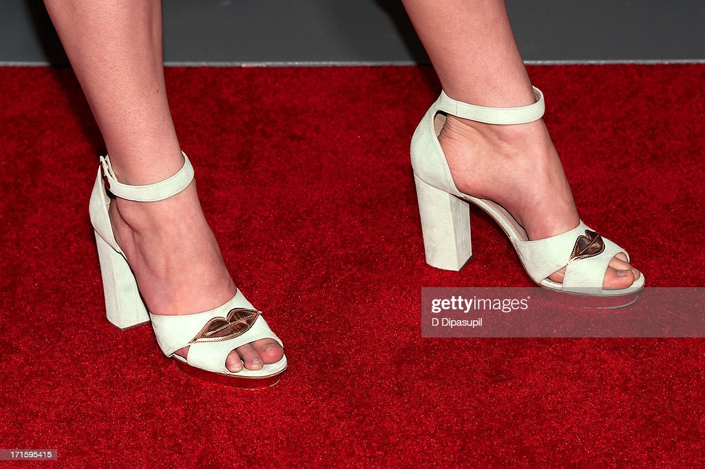 Devon Werden (shoe detail) attends 'The Way, Way Back' premiere at AMC Loews Lincoln Square on June 26, 2013 in New York City.